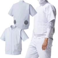 【服のみ単品】アタックベース 005 空調風神服 半袖白衣ブルゾン